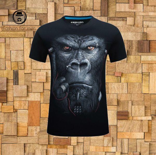 t shirt Gorila 3D