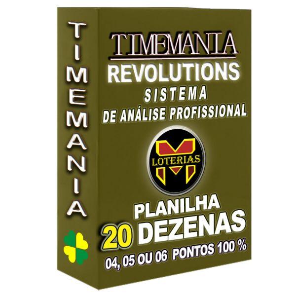 Planilha TIMEMANIA - Aposte Com 20 Dezenas, 5 Ou 6 pontos 100%