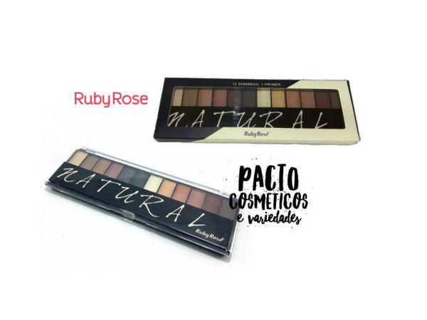 Paleta de Sombras + Primer Ruby Rose Natural HB-9908