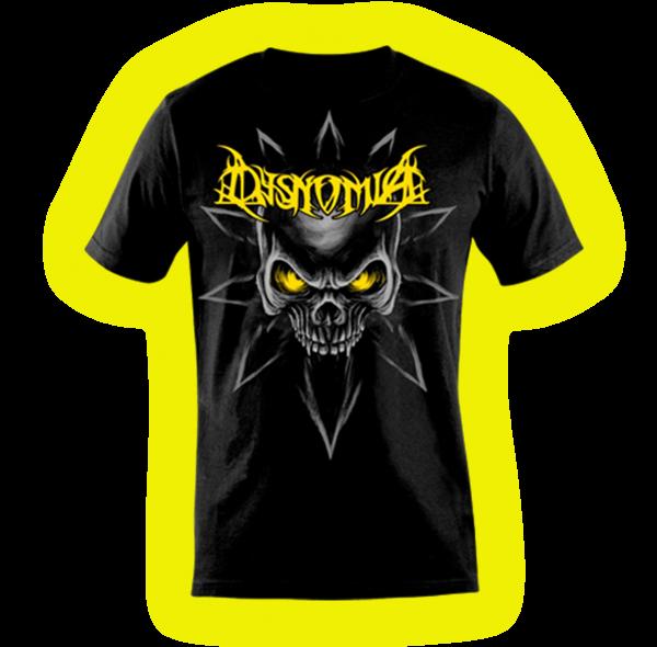 Camiseta Skull Chaos (Estampa Amarela)