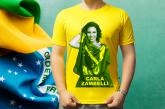 Camiseta Autografada por Carla Zambelli - Amarela
