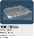 MEI-165 EMBALAGEM ARTICULADA TRANSPARENTE 100 UN.