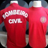 CAMISETA VERMELHA BOMBEIRO CIVIL COM SIMBOLO