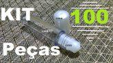 Kit 100 Frasco Labial flaconete 7,5ml Roll On De Plastico