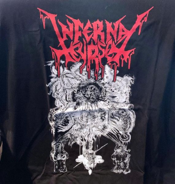 INFERNAL CURSE - ...of Death and Nihilism - (T-SHIRT, Size L)