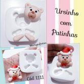 Rosto Ursinho com Patinhas Cód 1111