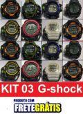 KIT 03 G-SHOCK MODELO NOVO - G-SHOCK