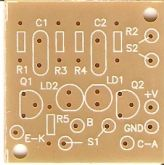 Placa p/ Provador Autom. de Transistores, Diodos e LEDs