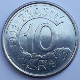 10 Cruzeiros Reais 1993 SOB/FC