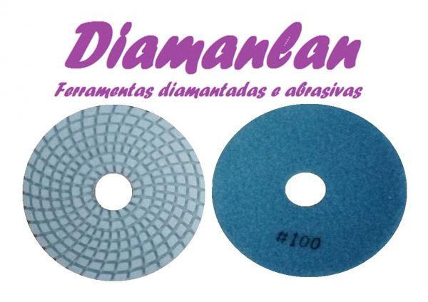 Lixa Diamantada 100mm Brilho D'água GR 100