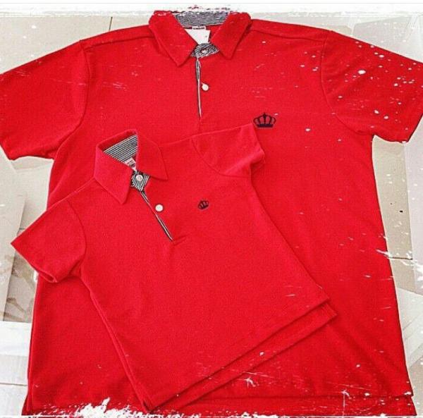 ... elo7 joleju kit camiseta polo tal pai tal filho vermelha a13b40b84b56d