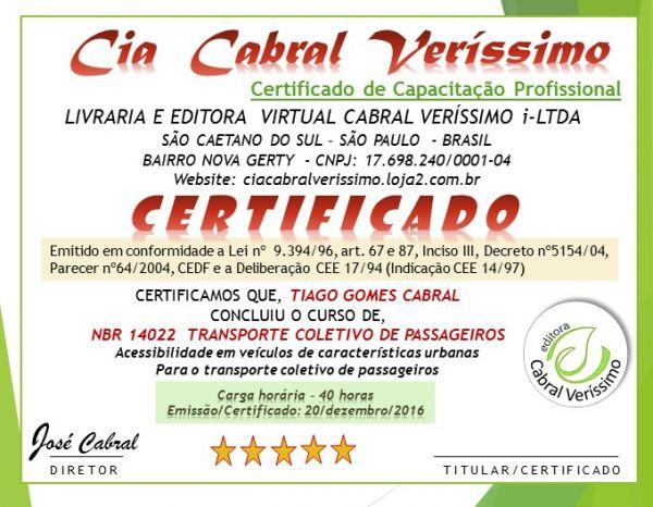 >Instrução/Certificado