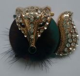 Raposa Dourada com Detalhes preto (Par)
