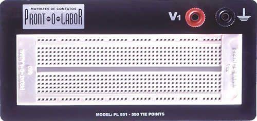 COD 1539 - Protoboard PL 551 550 furos