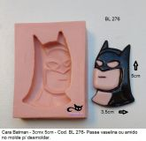 Rosto do Batman com 4cm