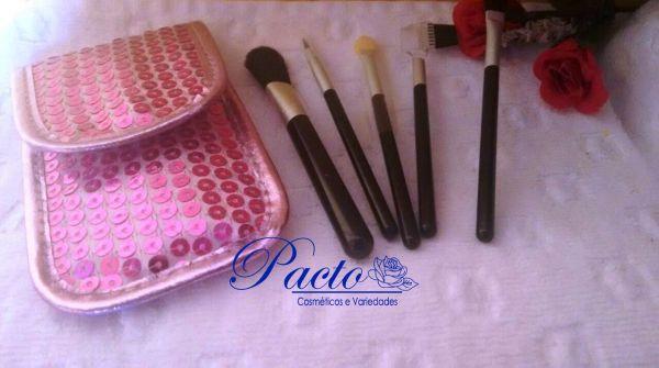 Kit de pinceis de maquiagem para bolsa