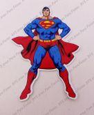 Aplique com 12 cm - Heróis - Super Homem