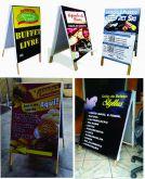 Cavalete de Madeira com  propaganda impressa e entrega em Porto Alegre