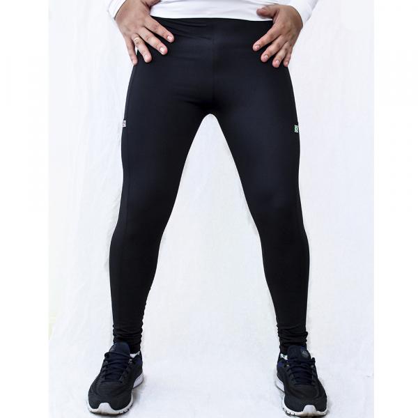 Calça Masculina de Compressão personalizada Preta Emana