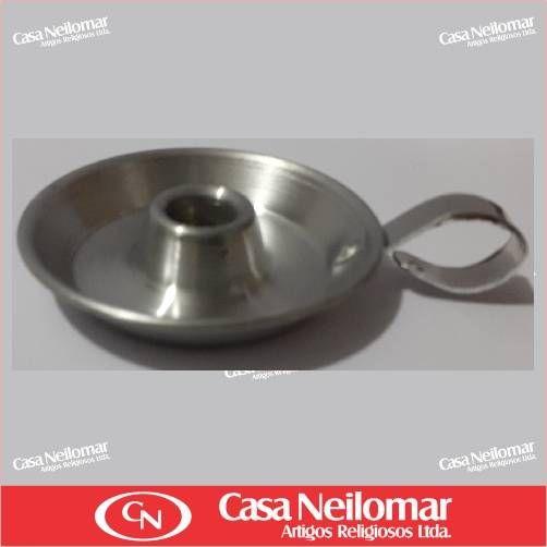 004002 - Castiçal de Alumínio para 1 vela