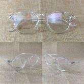 Armação De Óculos Vintage Retrô Transparente Simples