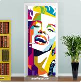 Adesivo para Porta Pop Art Marilyn Monroe