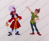Aplique com 12 cm - Peter Pan e Capitão Gancho