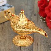 Kiwarm Metal Esculpido Lâmpada Aladdin