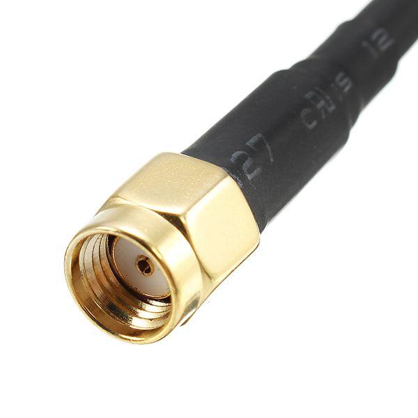 02 Antenas Pagoda 2 RHCP / 5.8GHZ / Comprimento 55mm / Conector RP-SMA C/ Proteção em TPU Cor Vermel