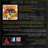 AGRESSOR - Kill or Die (CD) com bônus (outtakes) e slipcase