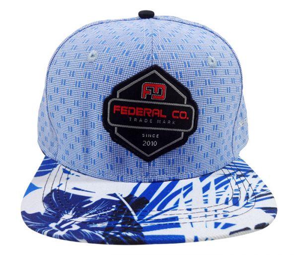 9dd7323d40 Boné Aba Reta Federal CO. Azul e Branco MOD:70302 [Original] - O ...