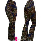 calça flare ou reta(64/66)plus size, estampa correntes azul, suplex 320