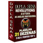 Planilha DUPLA SENA, aposte com 21 dezenas em 1990 jogos 5 ou 6 pontos 100%.