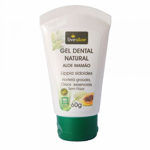 Gel Dental Natural Aloe Mamão Sem Fluor