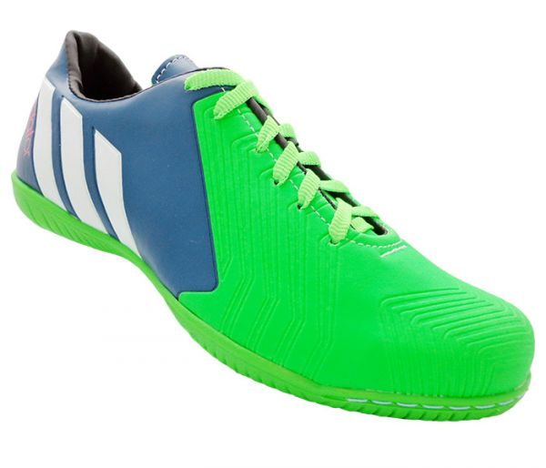5db4953853721 Chuteira Futsal Adidas Predator Instinct 2015 Azul Marinho e Verde ...
