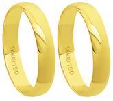 A40 - alianças de ouro 18k, tradicional - Marca cpl