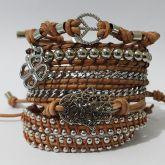 kit de pulseiras couro