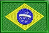 Bandeira do Brasil Matriz de Bordado em EMB