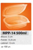 MPP-14M EMBALAGEM PP FREEZER MICRO-ONDASTAMPA ARTICULADA 500 ML C/ 100 UN.