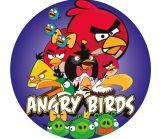 Papel Arroz Angry Birds Redondo 007 1un