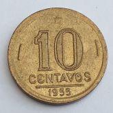 10 Centavos 1955 SOB/FC