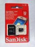 Microsdhc 32 Gb Sandsk Cartão De Memória