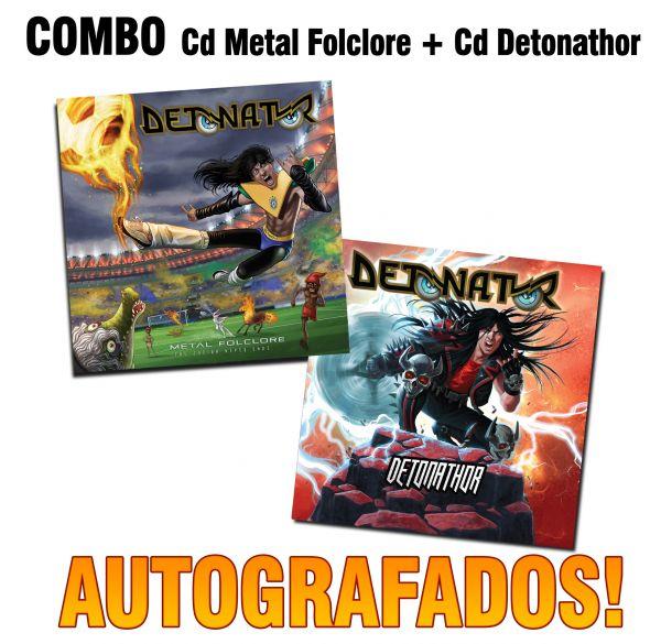 Combo:Cd Metal Folclore e Cd Detonathor (Autografados)