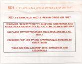 "VHS - KISS - TV Specials 2002 & Peter Criss On ""Oz"""
