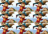 Papel Arroz Alvin e os Esquilos Faixa Lateral A4 008 1un