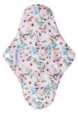 Kit Absorventes Reutilizáveis Violeta Cup - Floral + bolsinha