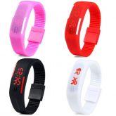 Relógio pulseira de silicone Led Digital Sport