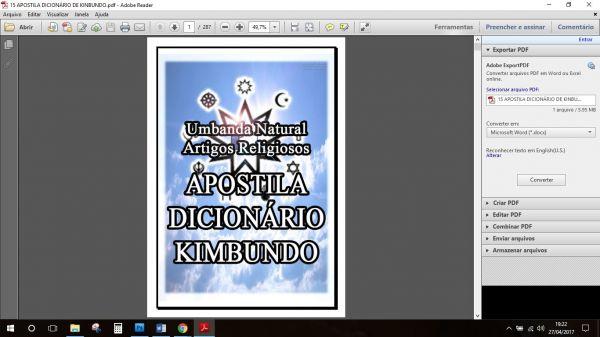 APOSTILA DICIONÁRIO KIMBUNDO – NAÇÃO ANGOLA