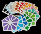Qy Pyraminx Crystal com 15 cores