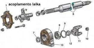 Acoplamento Elástico Cardã Laika (Novo) Ref. 0051